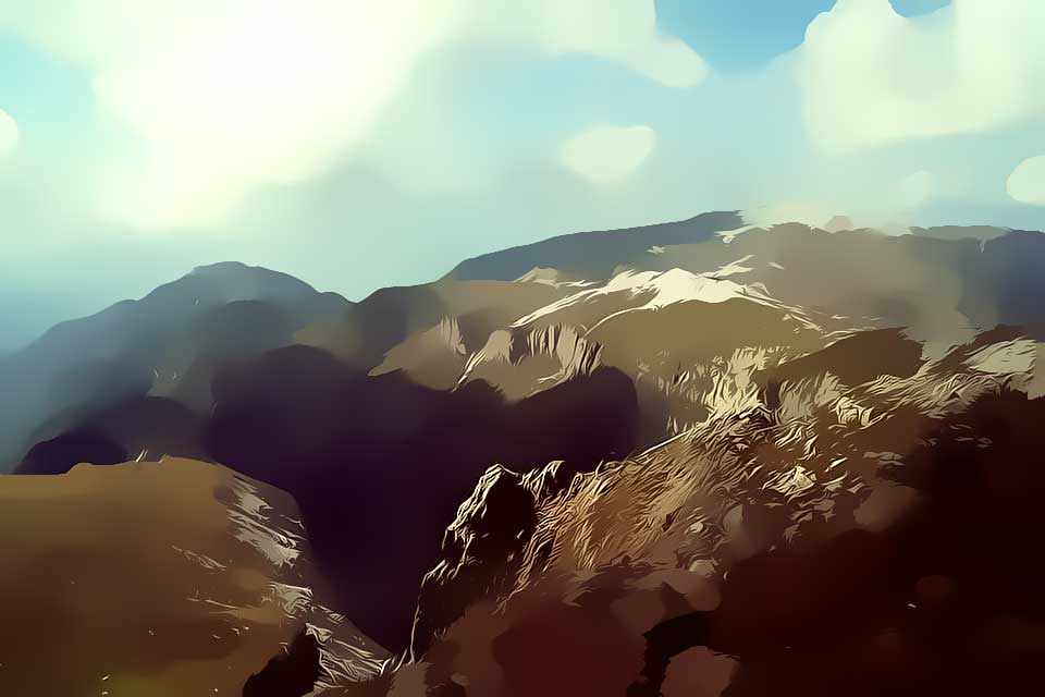 Nature Toons Mountains