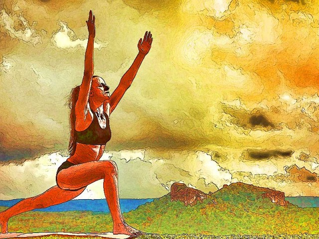 Yoga Sketch – Sun Salutation
