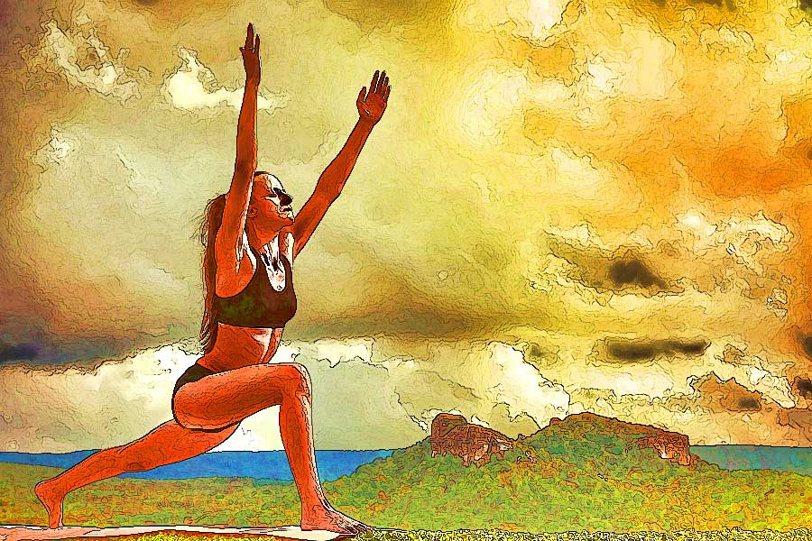 Yoga Sketch - Sun Salutation