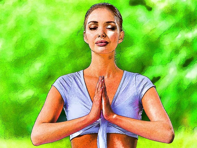 Yoga Sketch – Meditation on Green