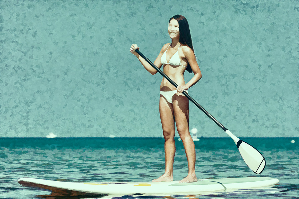 Stand Up Paddleboarding - Oil