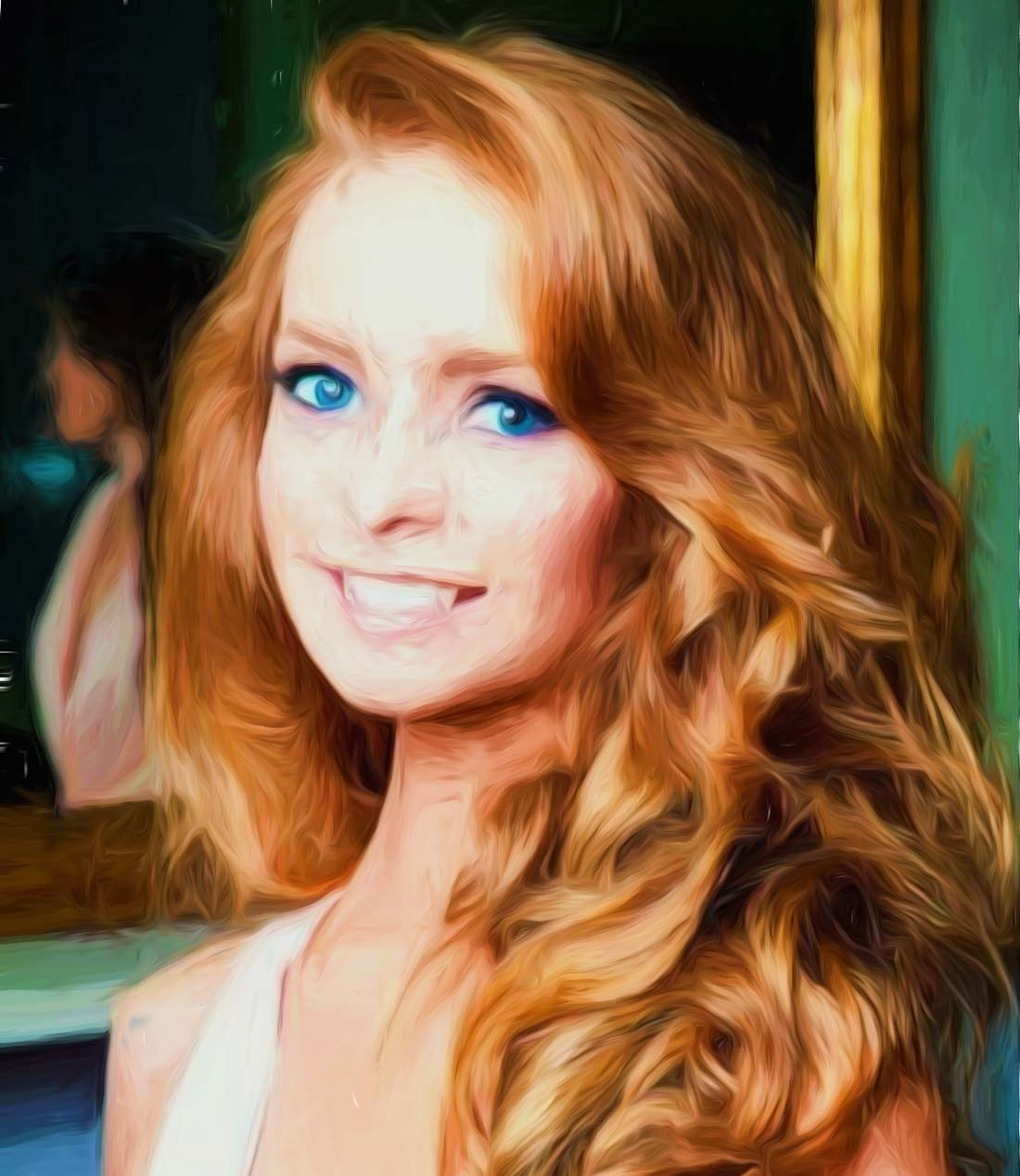 Beautiful Irish Girl Painting