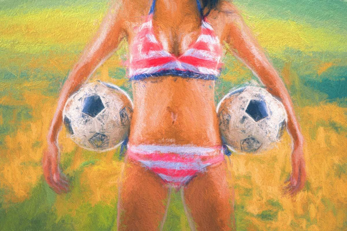 Soccer Fan - Holding Soccer Balls