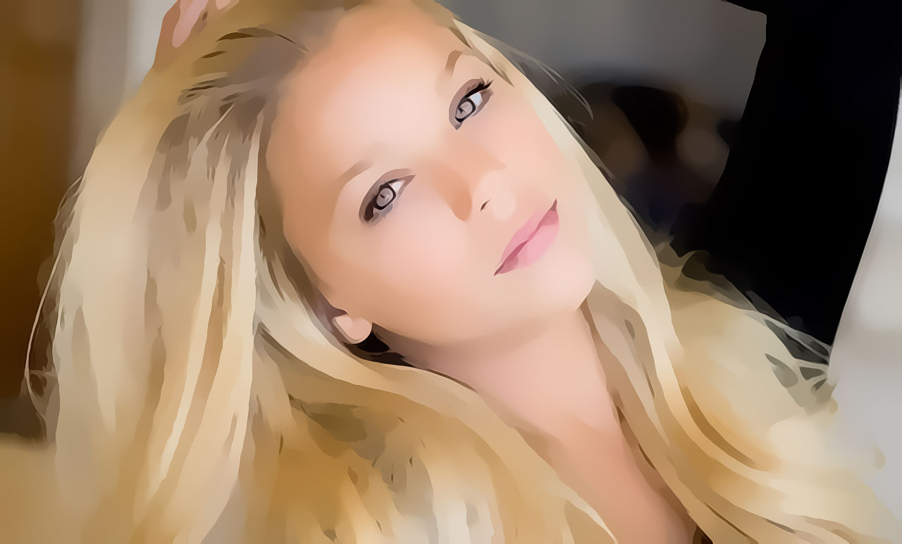 Blonde with Bashful Eyes
