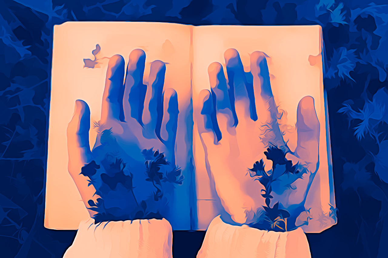Love Poetry - Hands and Book