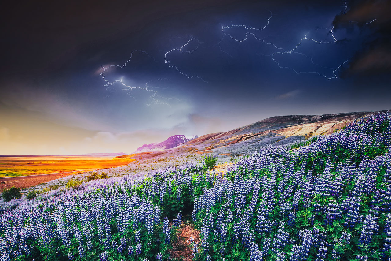 Stormy Skies over Iceland